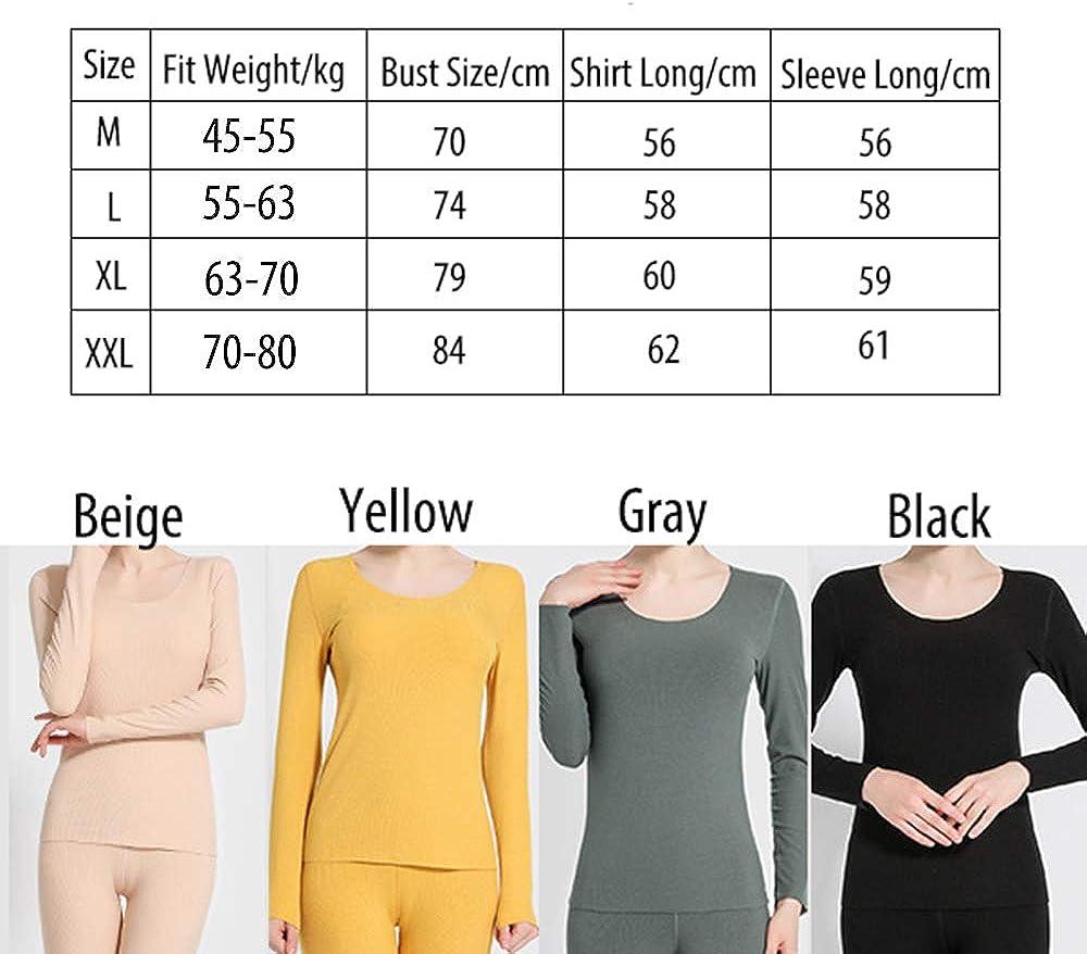 Gauagbr Womens Thermal Tops Base Layer Shirts Stretchy Long Sleeve