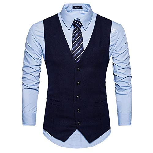 55044f72008c Sunshey Men's Single Breasted Waistcoats Slim Fit Party Business Suits Vest
