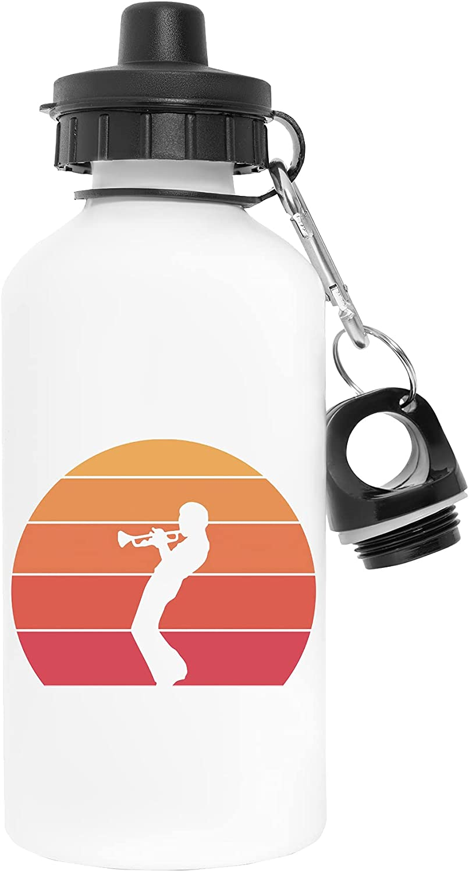 Davis Jugando Trompeta Por La Atardecer Blanco Botella de Agua Aluminio Deportes Viaje Exterior White Water Bottle Aluminium Sports Travel Outdoor