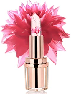 PrettyDiva Jelly Flower Lipstick - Color Changing with Temperature Mood Lipstick Moisturizer Lip Gloss Balm - Barbie Pink