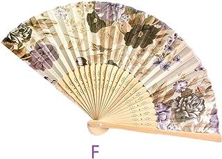 Abanicos Boda para Invitados Ventilador de Mano Plegable de bambú Vintage Regalos Chinos del Baile del Bolsillo del Ventilador de la Flor del Partido