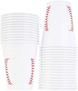 Baseball Party Cups Bulk Pack of 30 Plastic Cups For Birthday Party Supplies, Baseball Party Decorations, Game Day, Family Gatherings