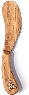 El cuchillo de mantequilla hecho a mano de madera de roble es el mejor para untar los alimentos suaves y delicados como el...