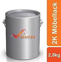 BEKATEQ 2K Holzklarlack LS-253 Möbellack UV-Lack Schlagfest Möbel Parkett Treppen - farblos - 2,5kg