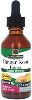 Nature's Answer Ginger Root Extract Supplement with Organic Alcohol, 2-Fluid Ounces | Joint Pain Relief | Inflammatory Sup...