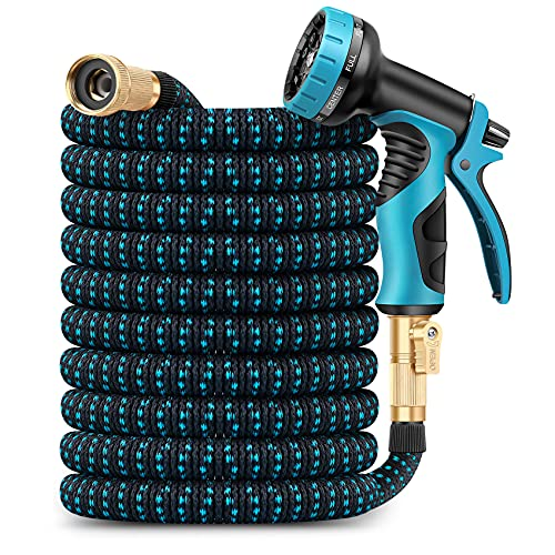 Amayrose Garden Hose Expandable Water Hose with 9 Function Spray...