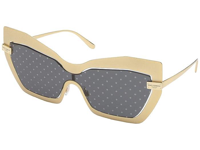 Dolce & Gabbana DG2224 (Sand Gold/Dark Grey Gold) Fashion Sunglasses