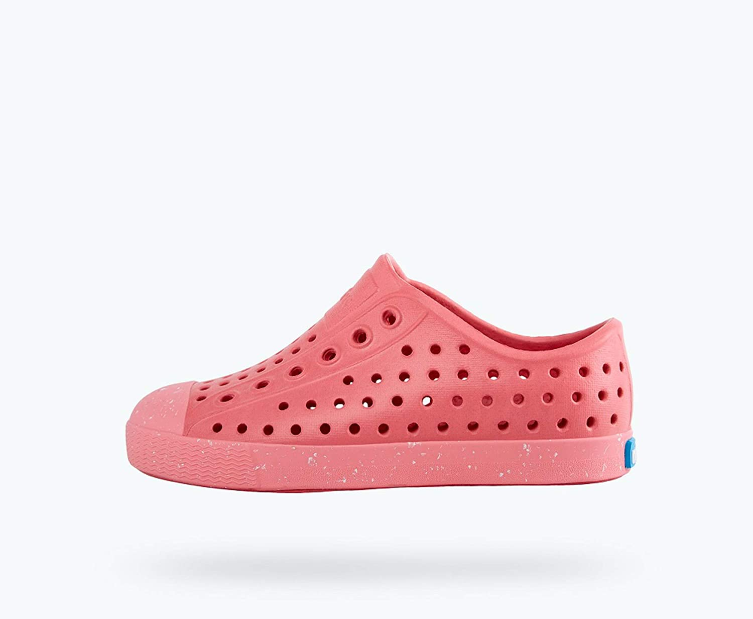 Native Shoes, Jefferson Bloom Child, Kids Sustainable Sneaker, Clover Pink/Parachute Pink/Shell Speckles, 2 M US Big Kid