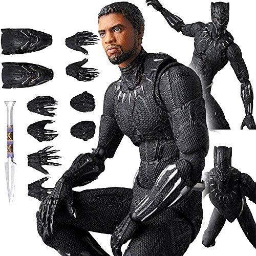 Figura de accion MAF091 Black Panther - 16 cm, para ninos de 4 anos en adelante