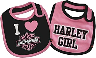 Baby Girls' Bibs, Bar & Shield 2 Pack Set, Black/Pink 7009505