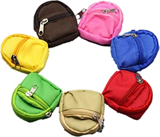 Fully 2pcs Mini Doll Accessories Backpack Double Straps Schoolbag for Mini Dolls