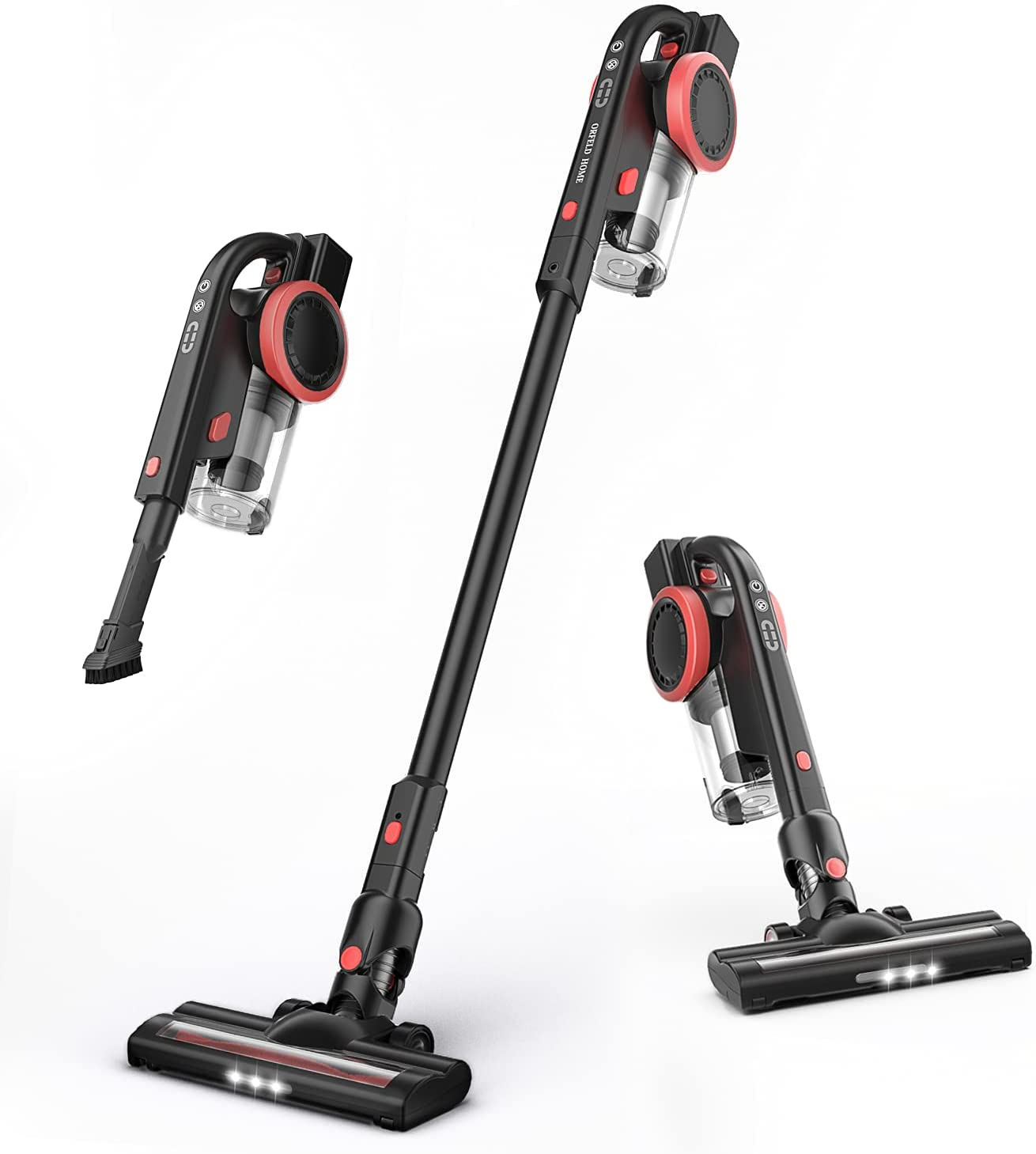 ORFELD Cordless Vacuum Columbus Mall Cheap mail order sales Cleaner Portable Stick 20000Pa