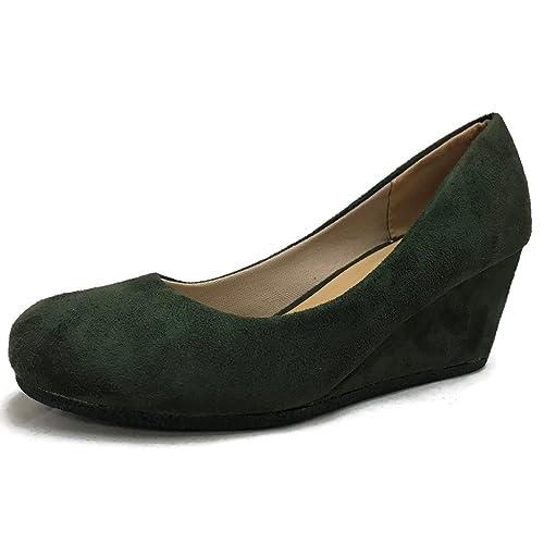 305a3761833ca Olive Green Wedges: Amazon.com