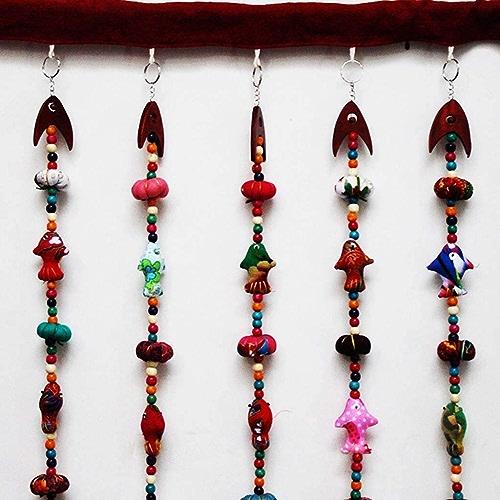 FEFEFEF Rideau Jardin Vent décoration de la Maison Demi Rideau Rideau Tissu Citrouille Petit Rideau en Perles de Poisson