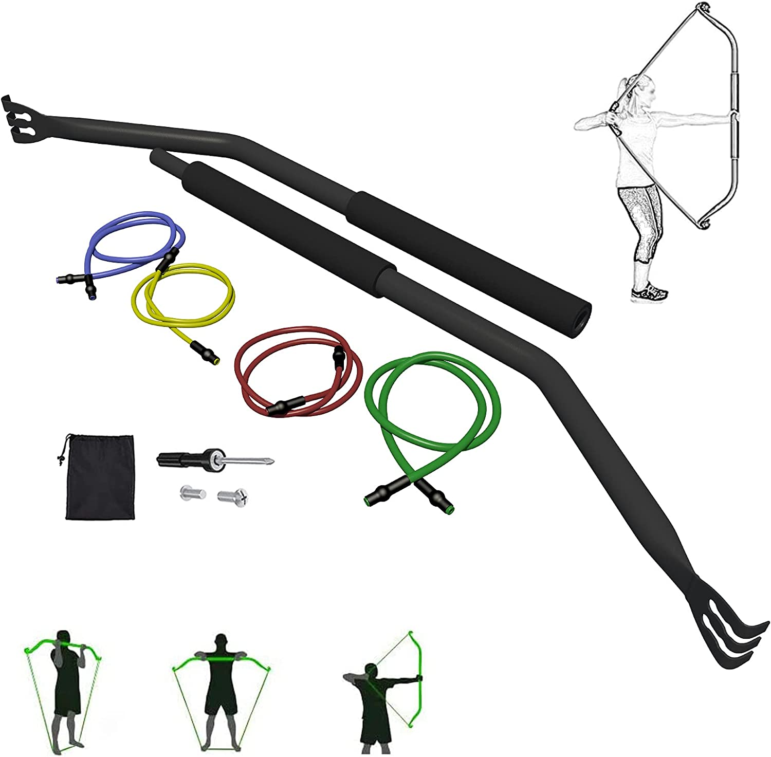 EKN Bow Portable Resistance Bands 4 Equipment R NEW before selling Year-end gift Fitness Compact