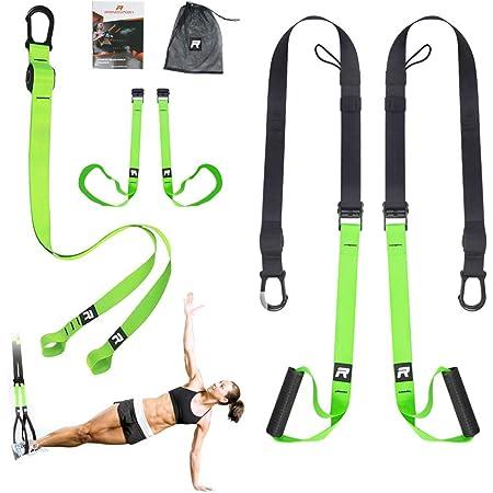 Schlingentrainer Suspension Expander Sling Training Band mit Türanker ROT