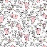 11,99€/m Schwein 100% Baumwolle Baumwollstoff Kinder