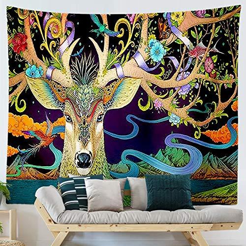 KHKJ Tapiz Colgante con Estampado de Ukiyo de Dibujos Animados de Estilo japonés, tapices para Colgar en la Pared, Colcha Boho, Manta para Esterilla de Yoga A2 150x130cm