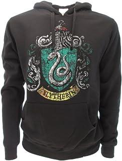 Harry Potter Sudadera con Capucha Hoodie Simbolo de Slytherin Casa - 100% Oficial Warner Bros