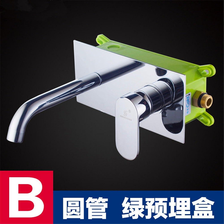 MGADERO Wasserhahn Bad Mischbatterie In der Wand Messing Warmes und kaltes Wasser Waschtisch Armatur für Badzimmer Waschbecken