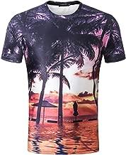 iLXHD T-Shirt Mens Summer Tropical Hawaiian 3D Funny Printing Tees Shirt Short Sleeve T-Shirt Blouse Tops