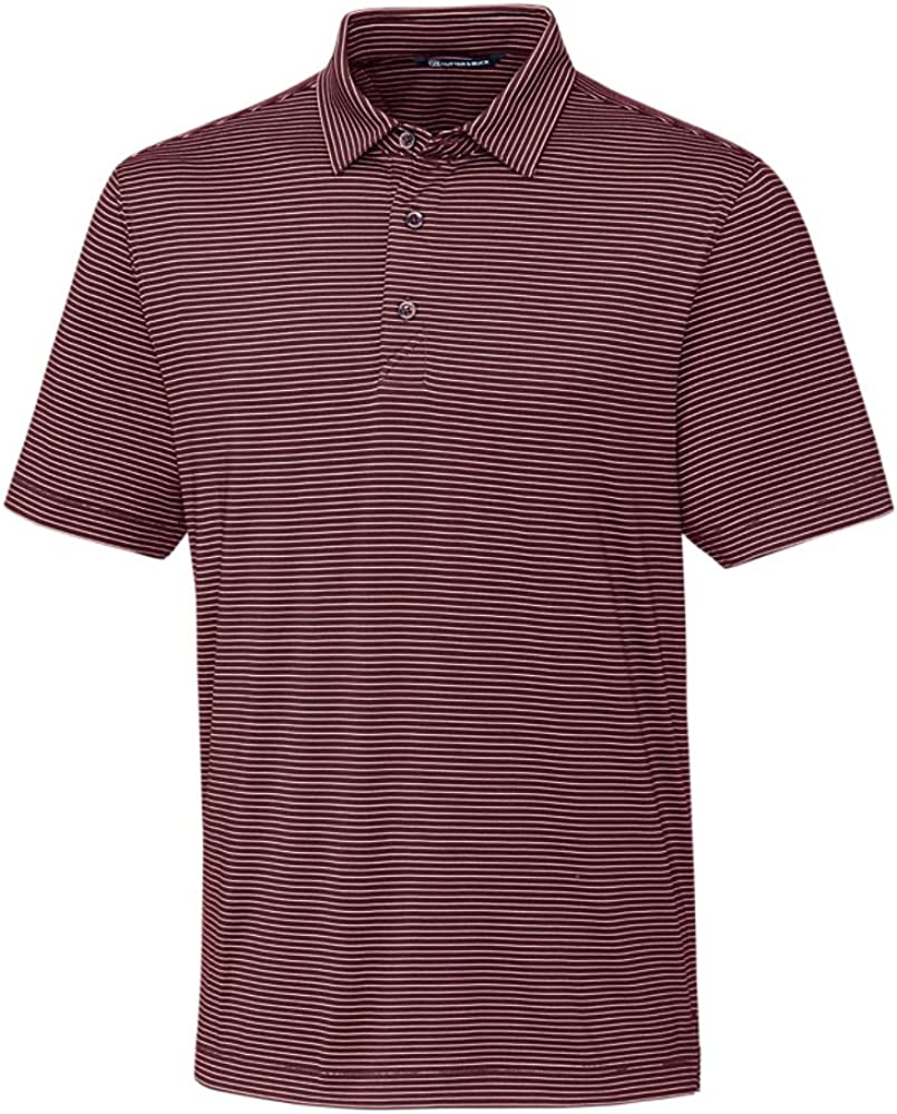 Cutter & Buck BCK00144 Men's Big and Tall Forge Polo Pencil Stripe Shirt, Bordeaux - 3XT
