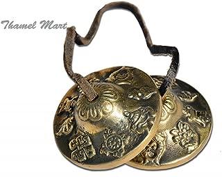 Hand Tuned to Key of Om 2.25 Inch- Tingsha Tibetan Bell (Chimes) Buddhist Lucky Symbols (Medium)