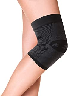 OrthoSleeve KS7 Compression Knee Sleeve (One Sleeve) for Knee Pain Relief, Aching Knees and Arthritis Relief (Black, Large)