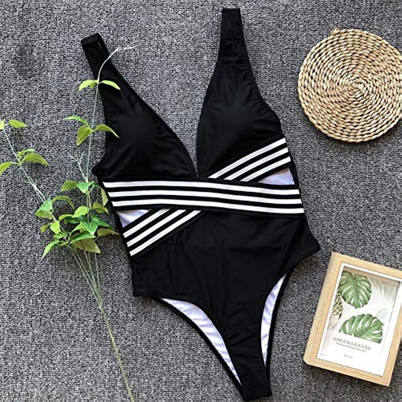 Linmatealliance Watersports Swimming Clothes 2 PCS High Cut One Piece Women Sexy Bikinis Swimwear, Size S(Black)