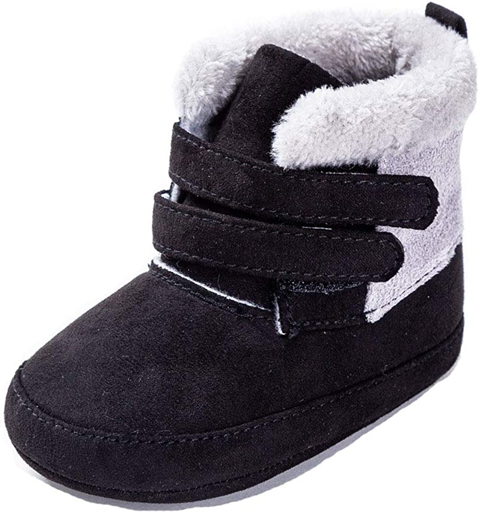 Csfry Baby Boys Snow Tulsa Mall New product! New type Boots Warm Shoes Non-Slip Winter