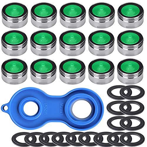 Gebildet Strahlregler M24 Wasserhahn Sieb Einsatz, für Wasserhähne 15pcs Material Messing von verchromt mit ABS-Kunststoff-Filter + 1 Stück Universaler Schlüsse