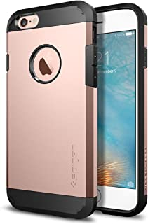 Spigen [Tough Armor] iPhone 6 6S Cover with Reinforced Kickstand and Heavy Duty Protection and Air Cushion Technology for iPhone 6 6S - Rose Gold