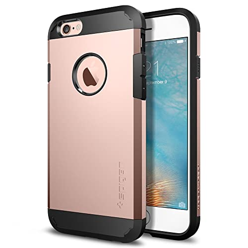 Spigen [Tough Armor] [Rose Gold] Case for iPhone 6/6s, Slim Protection Air Cushion Technology Dual Layer Design for iPhone 6 Case/iPhone 6s Case