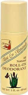 All Natural Roll-On Deodorant Aloe & Almonds 3 fl Ounce (89 ml) Liquid