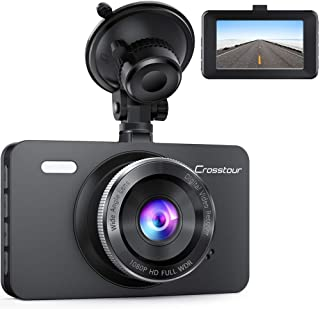 Crosstour CR300 Car DVR Dashboard Camera - 1080P Full HD and 12MP resolution - 3 inch LCD Screen - 170 Degree Wide Angle -...