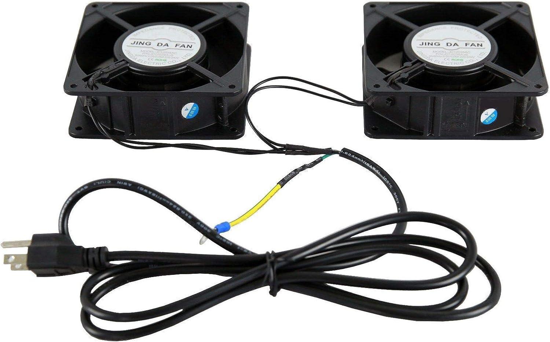 RAISING ELECTRONICS Server Cooling Cabinet Fan 110V Rack Mount 2 Pieces