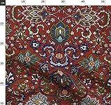Ottomane, Türkisch, Damast, Persisch, Viktorianisch, Rot,