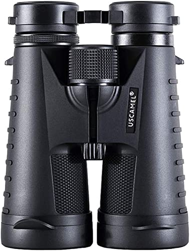 WMC 12x50 Grand grossissement Jumelles, Jumelles Portables portatifs avec Ed lentille Haute définition pour Camping en Plein air (Noir)