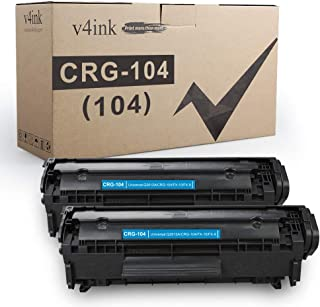 Best V4INK 2PK Compatible Toner Cartridge Replacement for Canon 104 CRG-104 FX-9 FX-10 Toner Cartridge Ink for use in Canon Imageclass D420 D450 D480 MF4150 MF4350D MF4270 MF4370DN MF4380DN Printer Review