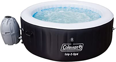 Coleman 13804-BW SaluSpa 4 Person Portable Inflatable Outdoor Round Hot Tub Spa with 60 Air Jets, Tub Cover, Pump, Chemica...