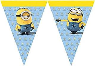 Procos 87182 Minions vlaggenketting met 9 vlaggetjes, hangdecoratie, kinderverjaardag