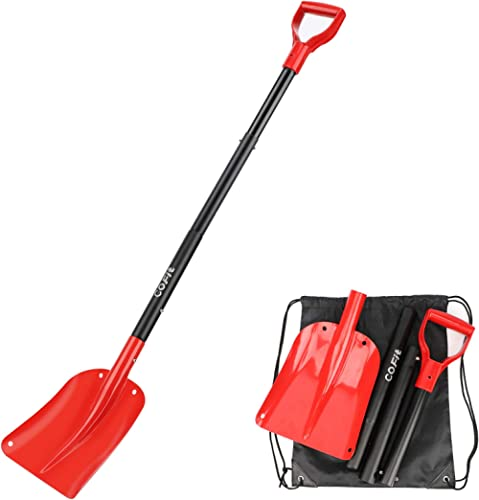 """COFIT 47"""" Retractable Snow Shovel, Aluminium Alloy Snow Sand Mud Removal Tool for Car Outdoor Camping and Garden, Det..."""