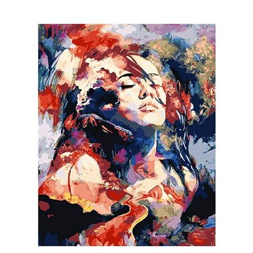 AWRT Pintura al óleo DIY Pintura Colorida Decoración De La Casa para La Sala De Estar d6 Marco DIY 40x50cm