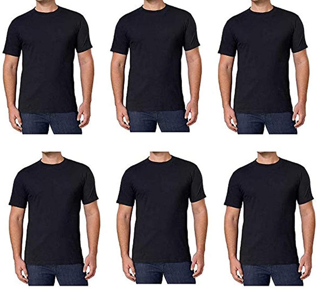 Kirkland Ranking TOP18 Signature Surprise price Men's Crew Neck T 100% 6 Co Black Pack Shirts
