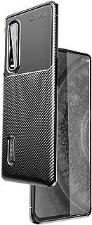 OPPO Find X2 Pro OPG01 ケース Freesun OPPO Find X2 Pro 5G 炭素繊維 ブラシ柄 ソフト シリコン TPU保護 カバー ケース おしゃれ 薄型 耐衝撃 高級感 柔らかい手触り スマホケース (ブラック)