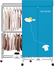 Portable Dryer,110V 1000W Electric Clothes Dryer Machine Double layer Stackable Clothes Drying Rack for Apartments, RV,Lau...