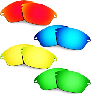 HKUCO Plus Mens Replacement Lenses For Oakley Fast Jacket - 4 Pair