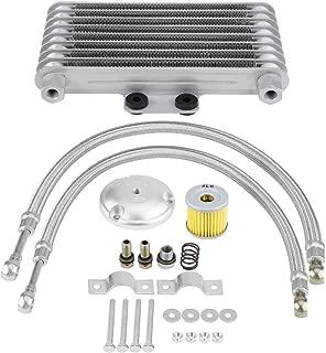 KIMISS 125ml Aluminum Motorcycle Oil Cooler Engine Oil Cooler Radiator Kit for125CC 150CC 200CC