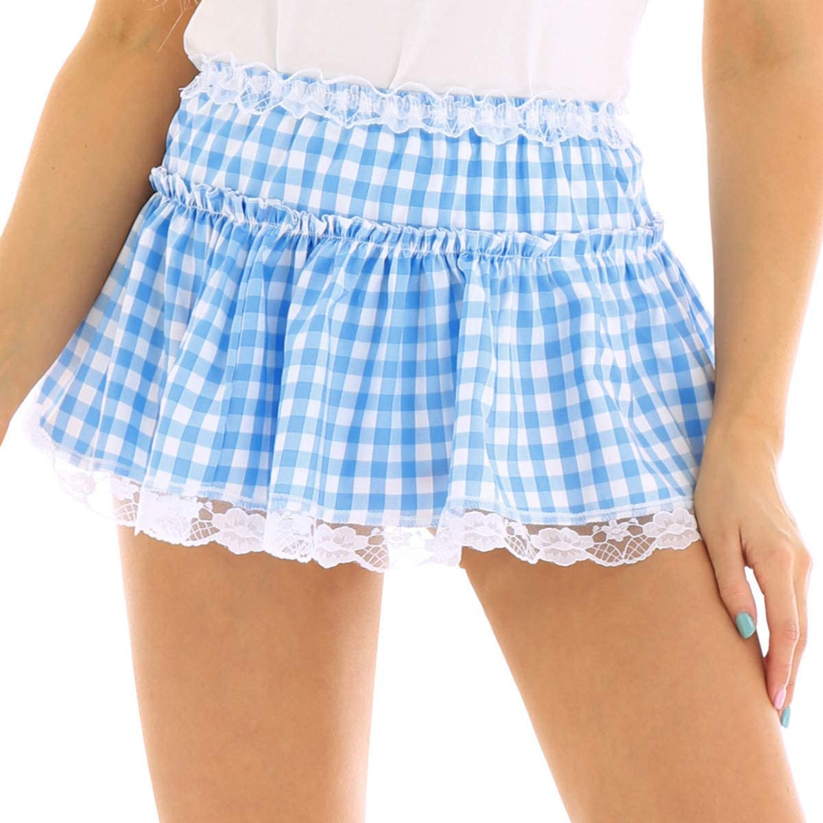 Gingham Frilly Pin Up Girl Camisole XXL Made to Order in Sizes XS