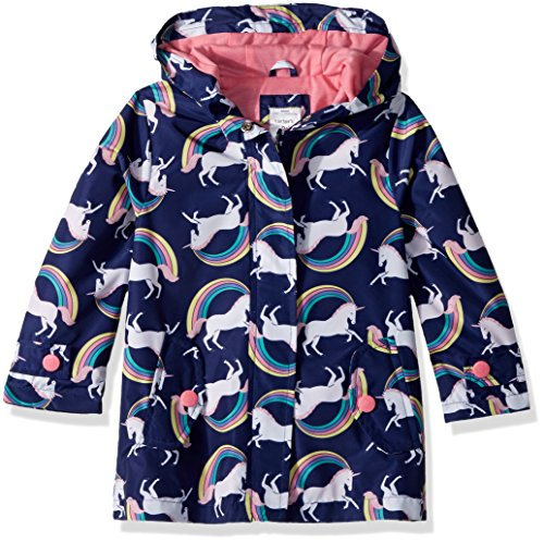 Carter's Girls' Toddler Favorite Rainslicker Rain Jacket, Unicorn Rainbows, 3T
